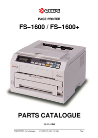 Ersatzteil-Liste Kyocera FS−1600+