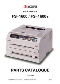 Part List Kyocera FS−1600