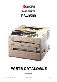 Part List Kyocera FS−3500