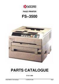 Ersatzteil-Liste Kyocera FS−3500