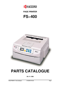 Part List Kyocera FS−400