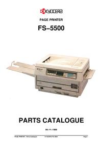 Часть Список Kyocera FS−5500