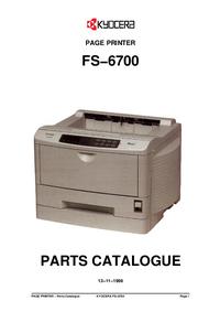 Liste des pièces Kyocera FS−6700