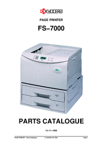 Ersatzteil-Liste Kyocera FS−7000