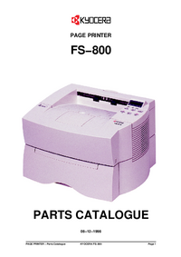 Part List Kyocera FS−800