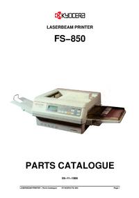 Часть Список Kyocera FS−850