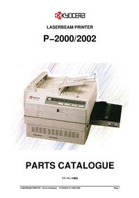 Part List Kyocera P-2002