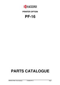 Part Elenco Kyocera PF-16