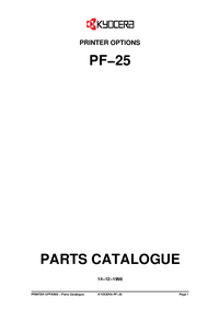 Part List Kyocera PF−25
