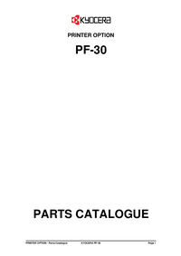 Part List Kyocera PF-30
