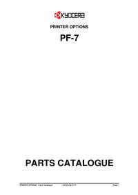 Parte de lista Kyocera PF-7