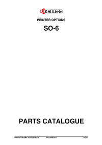 Ersatzteil-Liste Kyocera SO-6