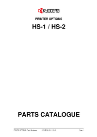 Part List Kyocera HS-1