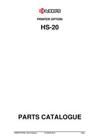 Part List Kyocera HS-20