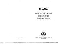 Manuel de l'utilisateur et Schéma cirquit Kyoritsu K-126A