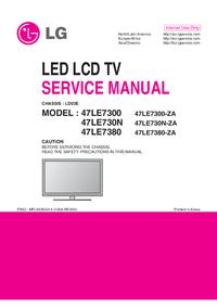 Manual de serviço LG 47LE7380