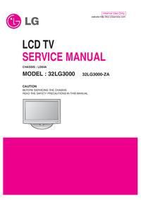 Manuale di servizio LG 32LG3000