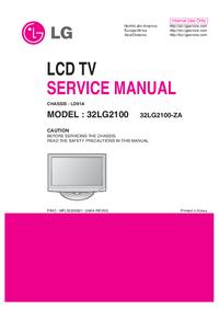 manuel de réparation LG 32LG2100