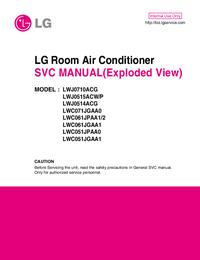 Manual de servicio LG LWJ0710ACG