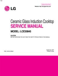 Руководство по техническому обслуживанию LG LCE30845