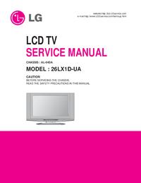 Servicehandboek LG 26LX1D-UA