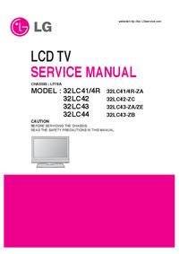 manuel de réparation LG 32LC44