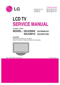 Manuale di servizio LG 32LH2010-ZB