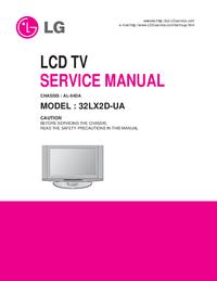 Manual de servicio LG 32LX2D-UA