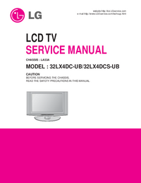Service Manual LG 32LX4DCS-UB
