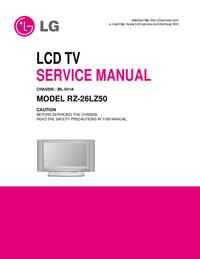 manuel de réparation LG RZ-26LZ50
