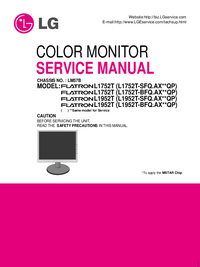 Serviceanleitung LG Flatron L1752T (L1752T-SFQ.AX**QP)