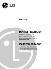 User Manual LG LSC27910**