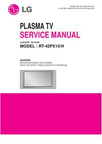 Manual de servicio LG RT-42PX10/H