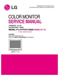 Service Manual LG Flatron F900BJ