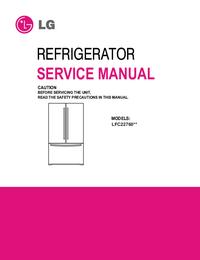Руководство по техническому обслуживанию LG LFC22760**