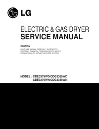 Manual de serviço LG CDG3389WD