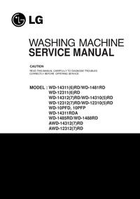 Manual de servicio LG WD-14311RDA