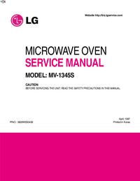 Service Manual LG MV-1345S