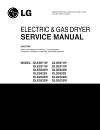 Service Manual LG DLE5932W