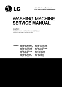 Manual de servicio LG WM-1171(6)FHB