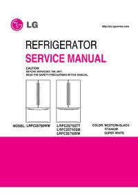 Manual de serviço LG LRFC25750TT