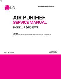 Service Manual LG PS-M550WP