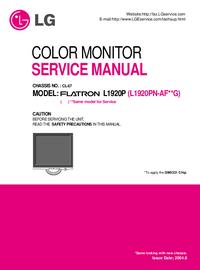 Manuale di servizio LG Flatron L1920P