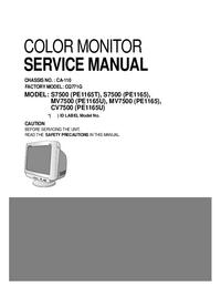 manuel de réparation LG MV7500