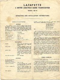 Обслуживание и Руководство пользователя Lafayette HE-45