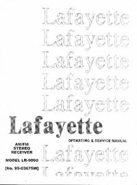 Service-en gebruikershandleiding Lafayette LR-9090