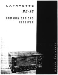 Service et Manuel de l'utilisateur Lafayette HE-30
