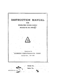 Service and User Manual Lambda 34