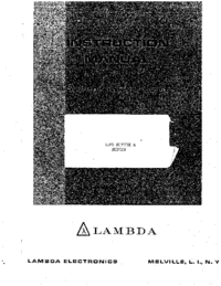 User Manual Lambda LPD-423AFM