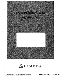 Serwis i User Manual Lambda LDS-P-20
